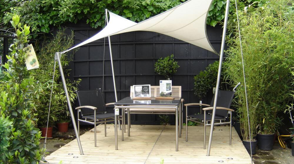 premium garden sails contemporary shade structures uk. Black Bedroom Furniture Sets. Home Design Ideas