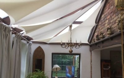 Conservatory shade sail – Design of the Month