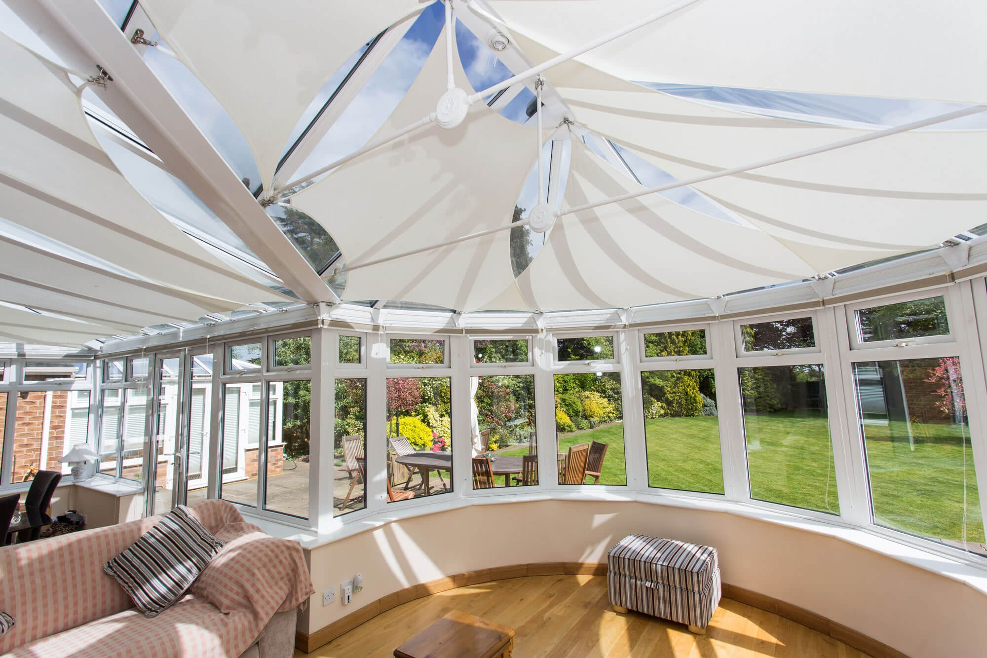 conservatory roof blinds and premium garden sails uk experts. Black Bedroom Furniture Sets. Home Design Ideas