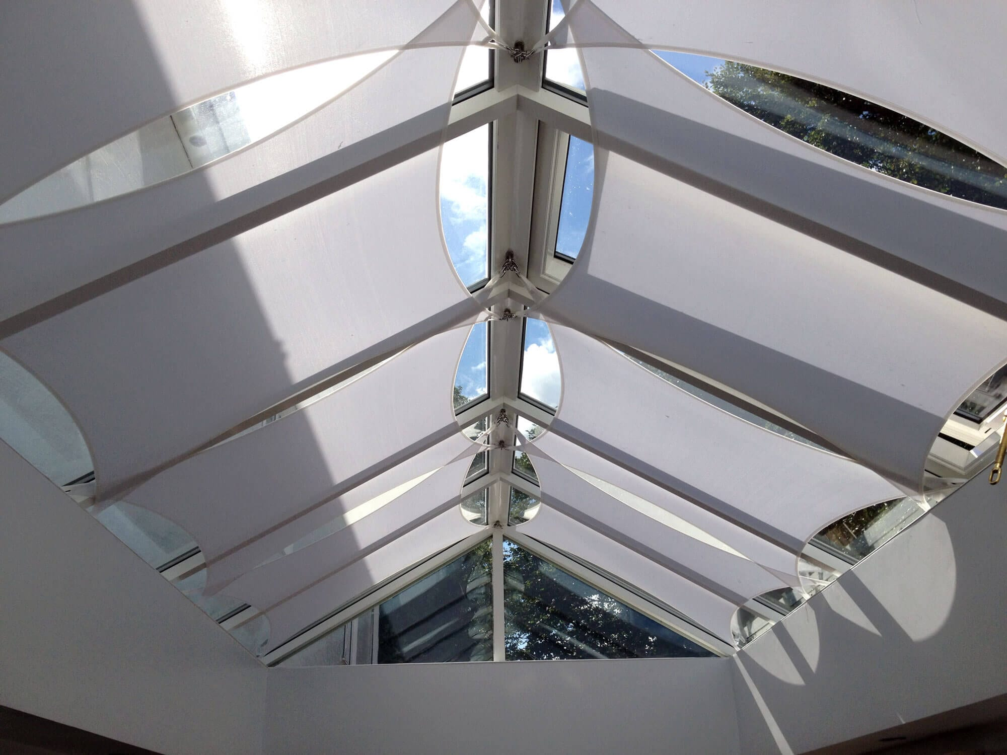 The modern effective solution to shade for your orangery
